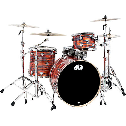 DW Collector's Series 3-Piece Finish Ply Tiger Oyster Shell Pack with Chrome Hardware-thumbnail