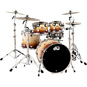 Collector's Series 4-Piece Satin Specialty Burnt Toast Fade Shell Pack with Chrome Hardware