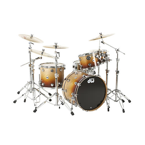 DW Collector's Series 4-Piece Specialty Shell Pack Cherry Wood to Burnt Toast Fade Chrome Hardware
