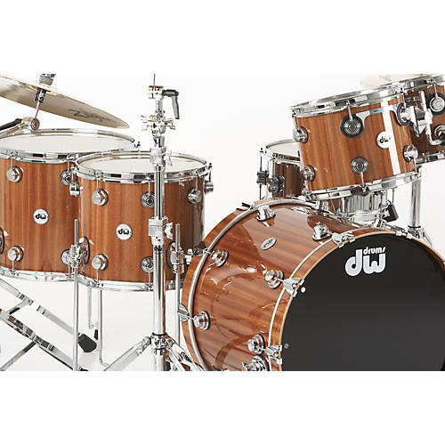 DW Collector's Series 5-Piece Lacquer Custom Shell Pack Mahogany/Maple with Chrome Hardware-thumbnail