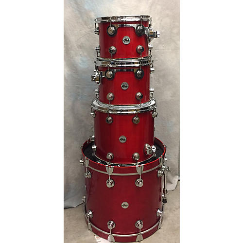 DW Collector's Series Drum Kit Trans Red