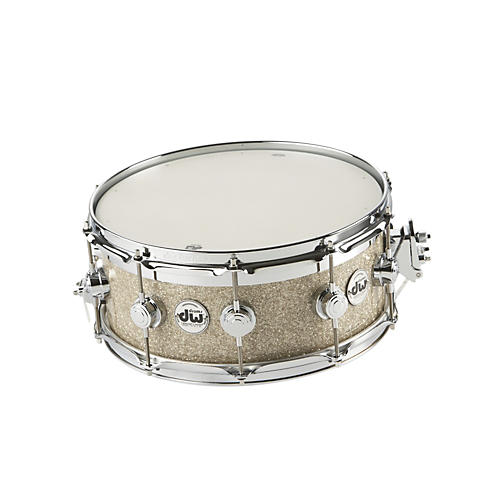 DW Collectors Series FinishPly Top Edge Snare Drum Broken Glass 14x6
