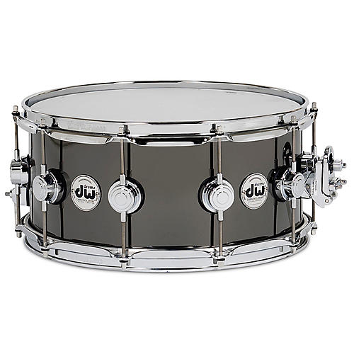 DW Collector's Series Snare Drum Black Nickel Over Brass with Chrome Hardware 14x6.5