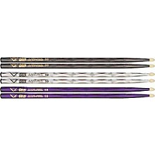 Vater Color Wrap 5B Hickory Drumstick 4-Pack