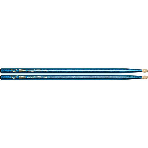 Vater Color Wrap Wood Tip Sticks - Pair 5A Purple Optic-thumbnail