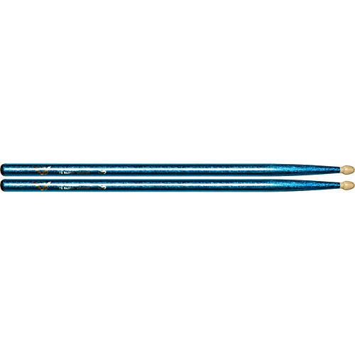 Vater Color Wrap Wood Tip Sticks - Pair 5B Blue Sparkle