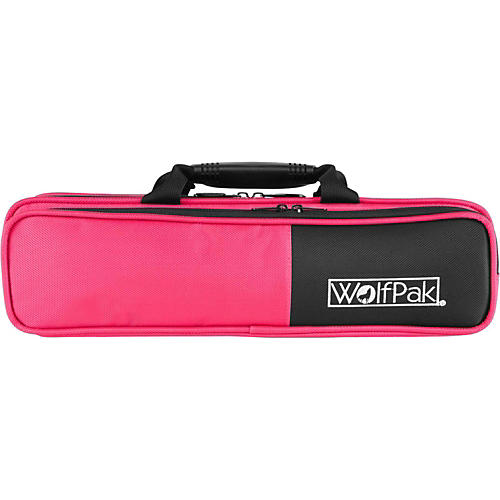 WolfPak Colors Series Lightweight Polyfoam Flute Case Pink-thumbnail