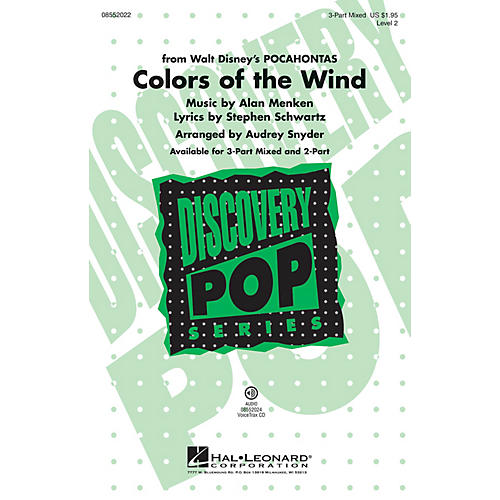 Hal Leonard Colors of the Wind (from Pocahontas) VoiceTrax CD Arranged by Audrey Snyder