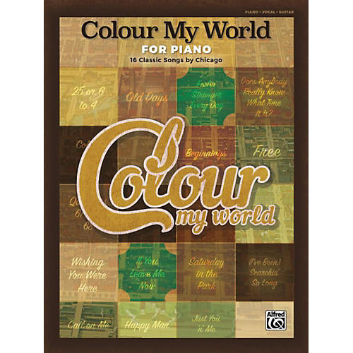 Alfred Colour My World for Piano Piano/Vocal/Guitar Songbook