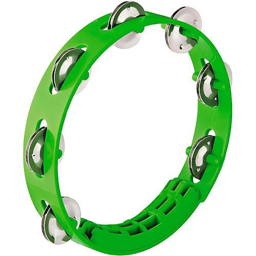 Nino Compact ABS Plastic Handheld Tambourine 8 in. Grass Green