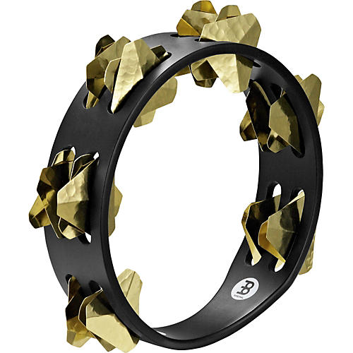 Meinl Compact Super-Dry Wood Tambourine Two Rows Brass Jingles-thumbnail