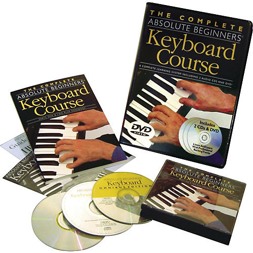 Music Sales Complete Absolute Beginners Keyboard Couse (Book/CD/DVD)-thumbnail