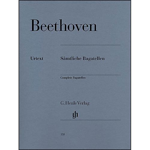 G. Henle Verlag Complete Bagatelles By Beethoven