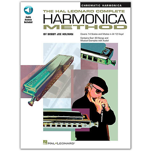 Hal Leonard Complete Harmonica Method - Chromatic Harmonica (Book/Online Audio)-thumbnail