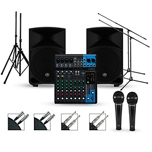 Yamaha Complete PA Package with MG10XU Mixer and Mackie Thump Speakers by Yamaha
