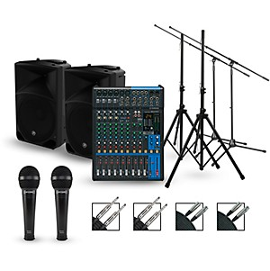 Yamaha Complete PA Package with MG12XU Mixer and Mackie Thump Speakers by Yamaha