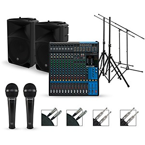 Yamaha Complete PA Package with MG16XU Mixer and Mackie Thump Speakers by Yamaha