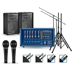 Phonic Complete PA Package with Powerpod 630R Mixer and JBL JRX200 Series S... by Phonic