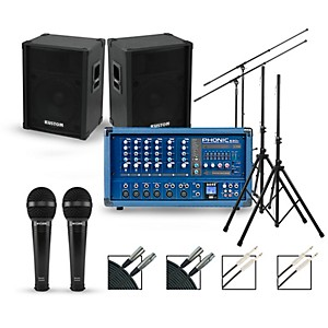 Phonic Complete PA Package with Powerpod 630R Mixer and Kustom KPC Speakers by Phonic