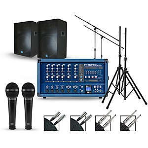 Phonic Complete PA Package with Powerpod 630R Plus Mixer and Gemini GSM Spe... by Phonic