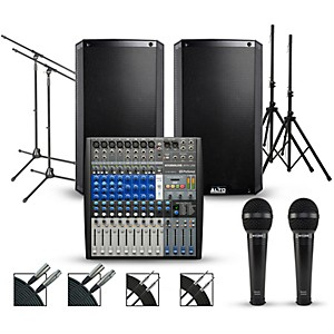 Presonus Complete PA Package with PreSonus AR12 14-channel Mixer with Alto ... by Presonus