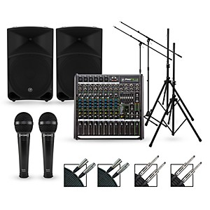 Mackie Complete PA Package with ProFX12v2 Mixer Thump Series Powered Speake... by Mackie
