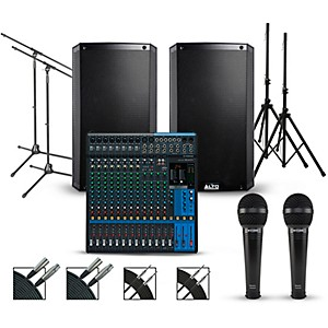 Yamaha Complete PA Package with Yamaha MG16XU 16-channel Mixer and Alto Tru... by Yamaha