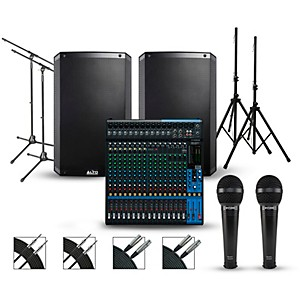 Yamaha Complete PA Package with Yamaha MG20XU 20-channel Mixer and Alto Tru... by Yamaha