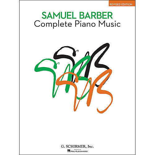 G. Schirmer Complete Piano Music Of Samuel Barber The American Composer Series By Barber-thumbnail
