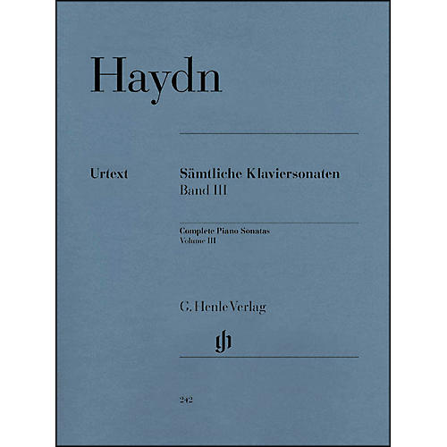 G. Henle Verlag Complete Piano Sonatas - Volume III By Haydn
