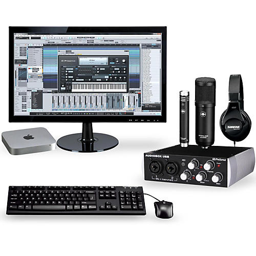 apple complete recording studio with mac mini v5 mgem2ll a guitar center. Black Bedroom Furniture Sets. Home Design Ideas