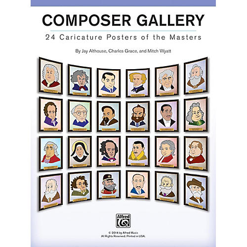 Alfred Composer Gallery: 24 Caricature Posters of the Masters-thumbnail