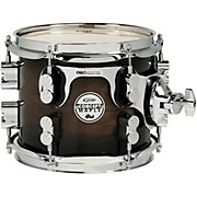 PDP by DW Concept Exotic Series Walnut to Charcoal Burst, Suspended Tom