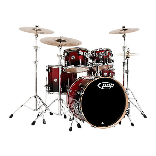 PDP Concept Maple 5-Piece Shell Pack Natural to Charcoal Fade