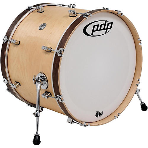 pdp by dw concept maple classic bass drum with tobacco hoops guitar center. Black Bedroom Furniture Sets. Home Design Ideas