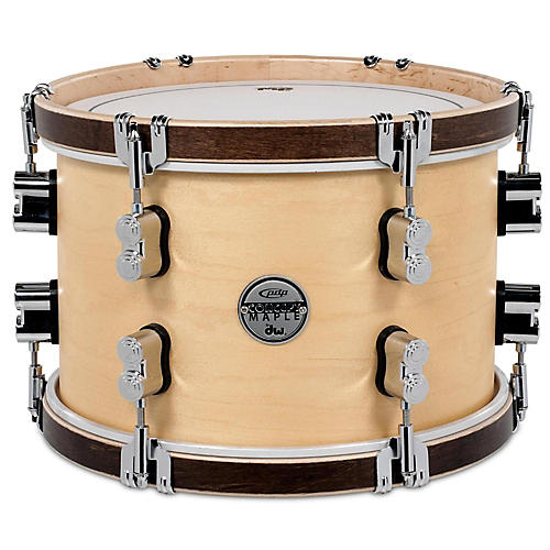 pdp by dw concept maple classic natural with tobacco hoops tom 12 x 8 in natural guitar center. Black Bedroom Furniture Sets. Home Design Ideas