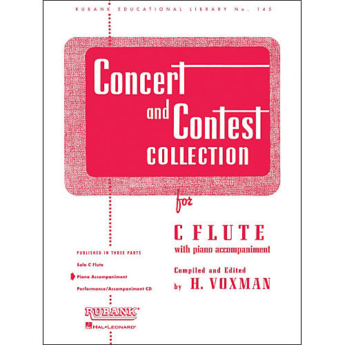 Hal Leonard Concert And Contest Collection C Flute Piano Accompaniment Only-thumbnail