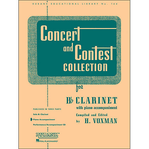 Hal Leonard Concert And Contest Collection for B Flat Clarinet Piano Accompaniment-thumbnail