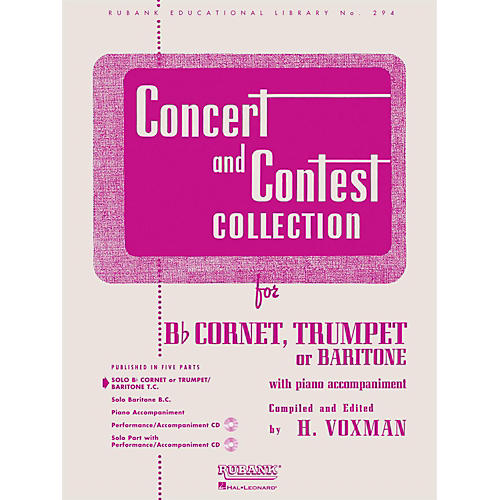 Hal Leonard Concert And Contest Collection for B Flat Cornet, Trumpet Or Baritone Solo Part-thumbnail