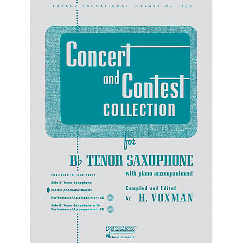 Hal Leonard Concert And Contest Collection for B Flat Tenor Saxophone Piano Accompaniment Only-thumbnail