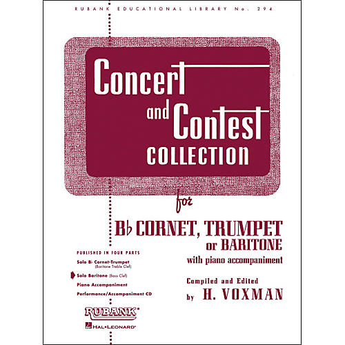 Hal Leonard Concert And Contest Collection for Baritone B.C. Solo Part Only-thumbnail
