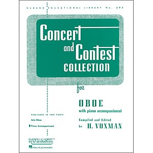 Hal Leonard Concert and Contest Collection for Oboe Piano Accompaniment Onl... by Hal Leonard