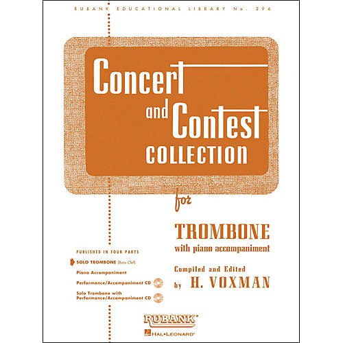 Hal Leonard Concert And Contest Collection for Solo Trombone Solo Part Only-thumbnail