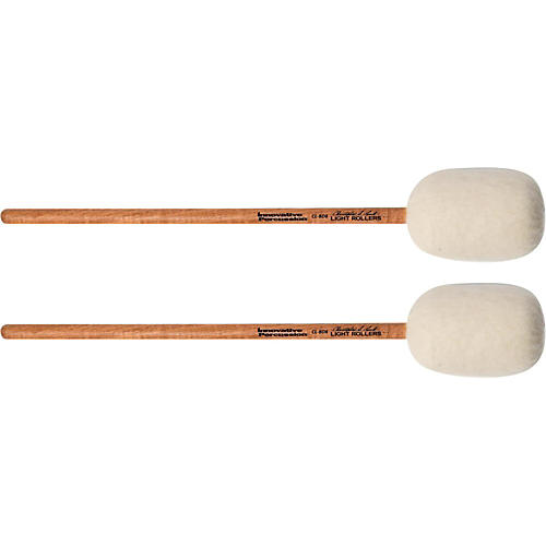 Innovative Percussion Concert Bass Drum Mallet - LIGHT ROLLERS (pair)-thumbnail