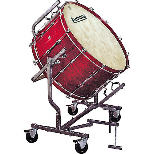 ludwig concert bass drum w fiberskyn heads le788 stand guitar center. Black Bedroom Furniture Sets. Home Design Ideas