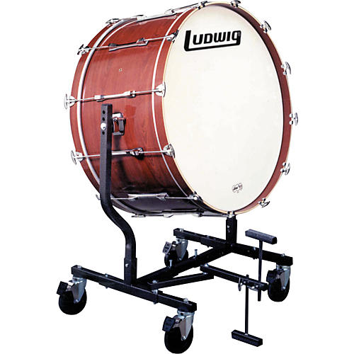 Ludwig Concert Bass Drum w/ LE787 Stand Cherry Stain 20x36