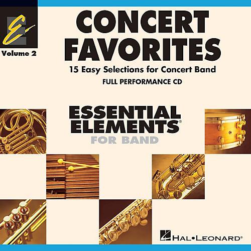 Hal Leonard Concert Favorites Vol. 2 - Full Performance CD Concert Band Level 1-1.5 Arranged by Michael Sweeney