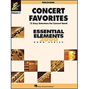 Hal Leonard Concert Favorites Vol1 Percussion 15 Easy Selections for Concert Band