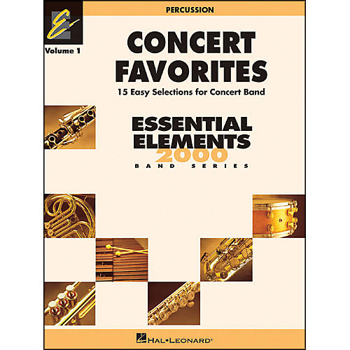 Hal Leonard Concert Favorites Vol1 Percussion 15 Easy Selections for Concert Band-thumbnail