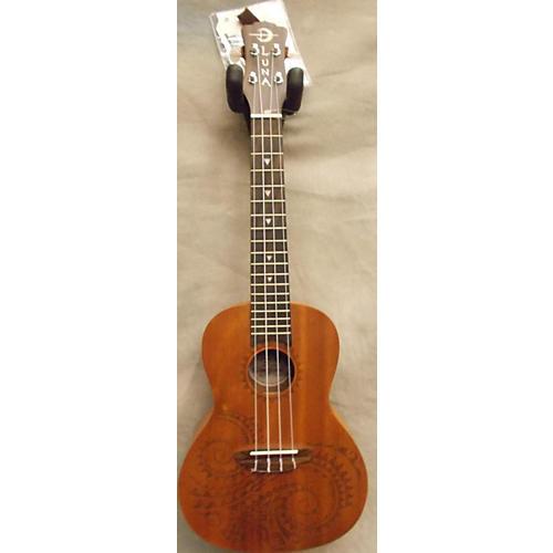 Luna Guitars Concert Tattoo Natural Ukulele